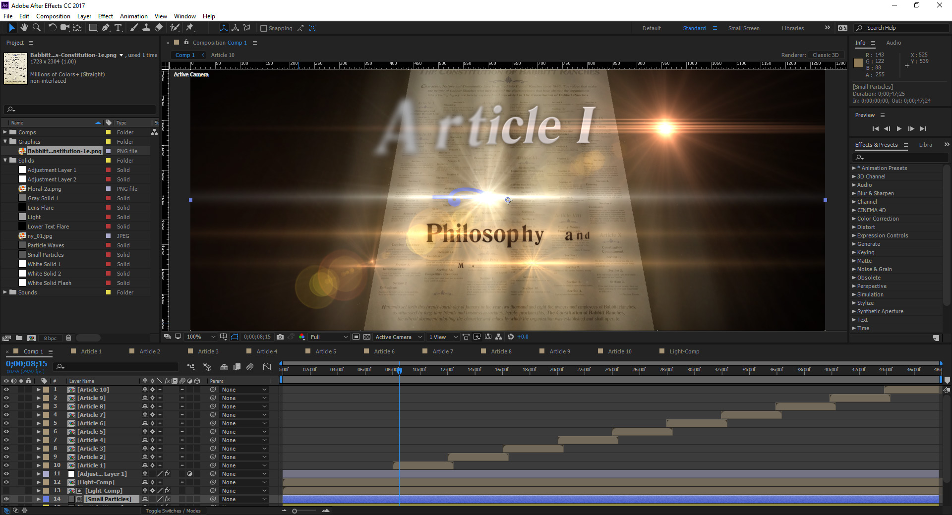 Motion Graphics & Effects
